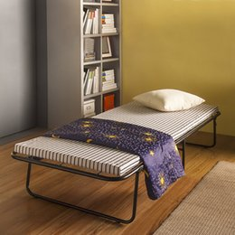 Wholesale IKAYAA Portable Single Folding Guest Bed Cot with Mattress Cover Metal Frame kg Capacity US STOCK H16932