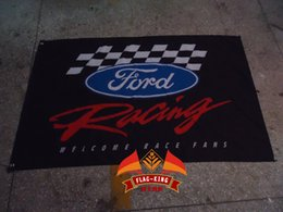 Free shipping,100% polyester 90*150cm,Ford car racing team flag,Digital Printing,Ford car club banner