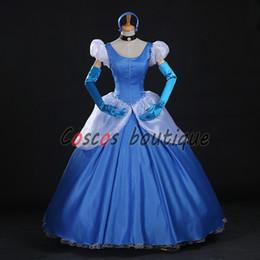 Cenicienta niños vestido del partido en venta-Adulto original Cenicienta vestido princesa azul para los niños partido de lujo niña princesa vestido de baile traje de lujo vestido