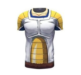 Wholesale Animated cartoon dragonball tights male Monkey King turtle fairy baseball with short sleeves T shirt unlined upper garment of running fitnes