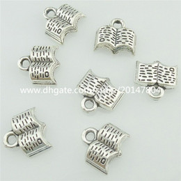 Wholesale 15707 Alloy Antique Silver Vintage Book Pendant Charm Jewelry Fashion