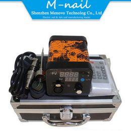 Portable E nails Menovo Electric Dab Nail Box Kit Aluminium Case Temperature Controller E-nail Titanium Ti Carb Cap for Glass Water Bongs