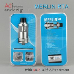 Wholesale Original Authentic AUGVAPE MERLIN RTA Tank for ipv400 ipv5 smok h priv kanger dripbox sigelei w vs tf rta rdta limitless w