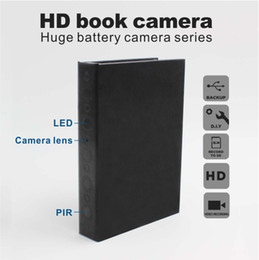Wholesale Spy hidden camera Book shape HD1080P View angle photo tape video local storage GB battery MINs recorder and live plug and play