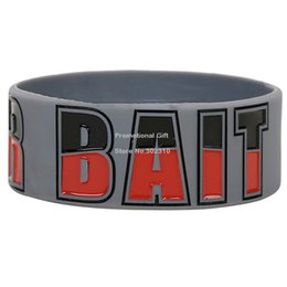 Wholesale Drop Shipping The Walking Dead Walker Bait Bracelet Silicon Wristband Ink Filled Colour Adult Size