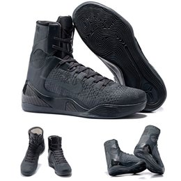 Wholesale With shoes Box Hot Sale Bryant Kobe IX High Elite FTB Fade To Black Mamba QS Men Boots Shoes