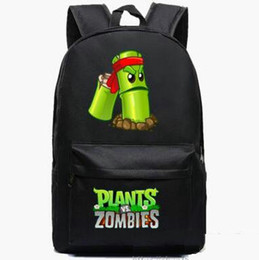 Crazy bamboo backpack Plants vs Zombies school bag PVZ daypack Hot schoolbag New game play day pack