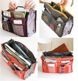 100pcs Women Lady Travel makeup bag Insert Handbag Purse Large liner Tote Organizer Dual Storage Amazing make up bags D633