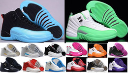 Top Quality 12 Women Men Basketball Shoes Cheap 12s Flu Game French Blue The Master Gym Red Taxi Playoffs Sneakers Shoes 4-5-6-7-8-11-13