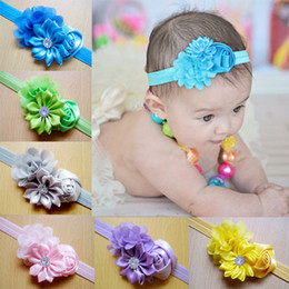 2016 hot sale baby newborn infant headband flower baby lace rhinestone headbands for flower hairband children girls hair accessories