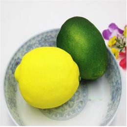 Wholesale Lemon Fruit Fake Decor Artificial Lemon Plastic Lemons Decorative Fruit For Home Festival Party Decor