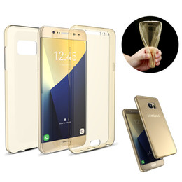 Newest Case! Ultra Thin Clear Soft TPU Full Protect Case For Samsung Galaxy Note 3 4 5 A3 A5 A7 J5 J7 Transparent 360 Degree Full Cover Bags