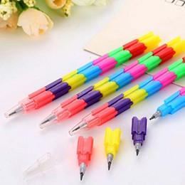 20pcs / Lot 1pcs = 8 lápices del bloque hueco de los lápices de los efectos de escritorio creativos del lápiz del lápiz de los niños del regalo del premio Regalos lindos Material Escolar kids mini pencil deals desde niños mini lápiz proveedores