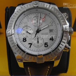 Wholesale - MENS SUPER AVENGER A1337011 CHRONOGRAPH SILVER 48MM WATCH Original Box Papers LuxuryMen's Watches