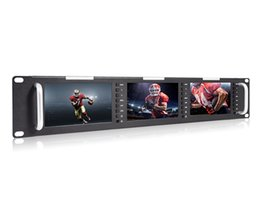 Wholesale feelworld T51 H Triple inch RU x480 Broadcast LCD Rack Mount Monitor with HDMI AV input output without SDI