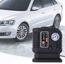 Wholesale Portable V PSI Air Compressor Portable Car Auto Tyre Pump Tire Inflatable Pump Auto Car SUV Tire Pump with adapter