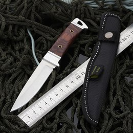 Crkt k90 fixed blade knives straight knife 57hrc pocket knives with wooden handles outdoor hunting tactical survival camping dagger