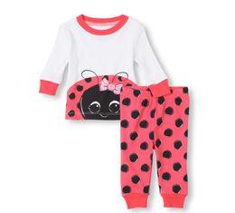 Wholesale Girls Matching Doll Kid Ladybug Piece Pajama Baby clothes Kids Children Pajama Sets Big girl Clothing KM