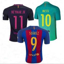 Wholesale Welcome Top Thai Jerseys Barcelona jerseys third home away soccer men shirts MESSI NEYMAR SUAREZ fans style
