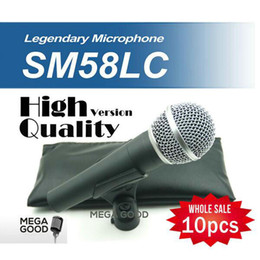 Wholesale best microfono High Quality Version SM LC SM58LC Wired Vocal Karaoke Handheld Dynamic Microphone Microfone Mic free mikrafon