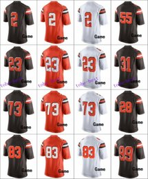Wholesale 2016 Cleveland football jersey Browns Soccer rugby jerseys Thomas Haden Benjamin Brown Orange White freeshipping