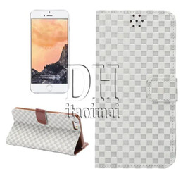 For Galaxy Note5 Grid Vintage Retro Flip Stand Wallet Leather Case Phone Case For iphone 6 6plus Samsung Galaxy S6 Edge Plus 300pcs