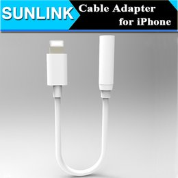 Wholesale Earphone Headphone Jack Adapter Connector Cable For iPhone Plus mm Female To Lighting Male Headset Connector Cord Newest