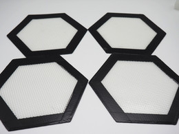 Wholesale Hexagon shape Food Grade Non stick Silicone Baking Mat Dabber Sheets Jars Dab Tool Vaporizer