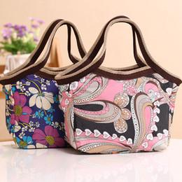 Korean Style Florals Pattern Printing Oxford Handbag Small Ladies Tote Bags Fashion Dots Leopard Pattern Handbags for Women