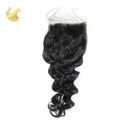 Wholesale 8A Top Grade Hair Lace Accessories Virgin Unprocessed Lace Frontal Hair Extensions Pieces Brazilian Top Lace Closure Suppliers DW