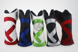 Wholesale the newest fashion brand Golf headcover TOUR T headcover top quality PU Golf headcover with colors putter headcovers