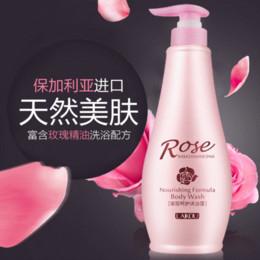 Wholesale Levin Kou rose essential oil shower gel body whitening moisturizing perfume fragrance bath milk bubble bath and genuine