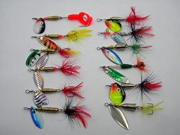 New Fly Fishing Spinner baits 12 styles Spinnerbaits set Freshwater Carp Catfish metal baits fishing lure
