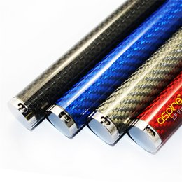 Promotion aspire atlantis méga Haut de gamme Aspire CF VV Batterie clone 1300 / 1600mah Variable Voltage Fibre de carbone Batterie atlantis 2 mega subtank nano mini