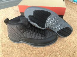 Wholesale Cheap air retro XII Wool Grey Black Nylon hot sell orginal Basketball Shoes Sneaker price sport shoes
