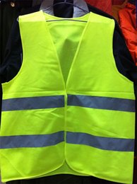 Wholesale High Visibility Working Safety Construction Vest Warning Reflective traffic working Vest Green Reflective Safety Clothing dhl free