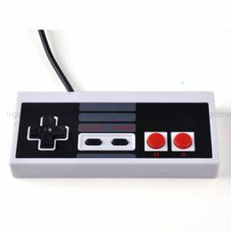 Compra Online Joystick usb-Venta al por menor - Joypad clásico caliente JoyStick Joypad del juego del regulador del USB del USB para NES PC de Windows para el regulador Gamepad del juego de ordenador del MAC para NES 1.5M