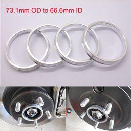 4pcs Brand New Wheel Hub Centric Rings 73.1mm OD to 66.6mm ID Aluminium Alloy