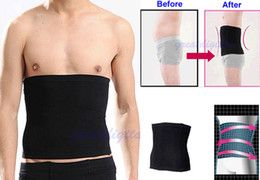 Wholesale-Free Shipping New Male Mens Slimming Lift Body Shaper Tummy Belt Underwear Waist Support Black