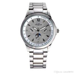 Mujer del estilo de reloj resistente al agua en venta-De buena calidad Chaoyada hombres de las mujeres de los amantes de los amantes de acero inoxidable 3 diales de estilo reloj de pulsera de cuarzo 7198
