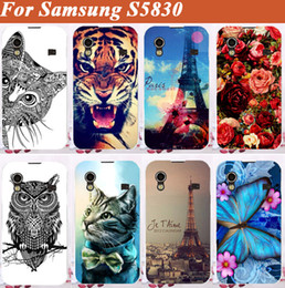 Wholesale-Cartoon Pattern Back Phone Case For Samsung Galaxy Ace S5830 S5830I GT-S5830i 3D Printing PC Hard Phone Cover