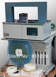 Wholesale Semi automatic money paper book banding machine OPP film pedal strap bander PCB packaging strapping equipment vertical strapper