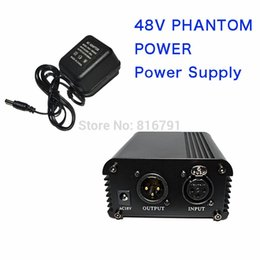 Wholesale Professional Channel V AC Phantom Power Supply with Adapter for Any Condenser Microphone