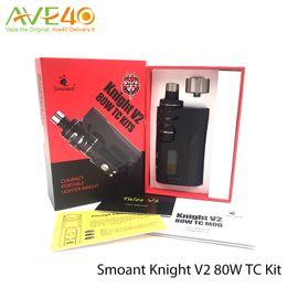 Wholesale Authentic Smoant Knight V2 W TC Kit Smoant Talos V1 Tank Fit Kanger Coils Magnets Back Cover