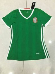 Wholesale Benwon Mexico home green soccer jerseys women s thai quality football t shirts girl s outdoor athletic short sleeve sports jerseys