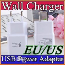 Wholesale 100 real v a V a EU US fast charger usb home wall charger adapter fit for v V with US and EU plug for samsung s6 note F SC