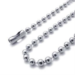 Wholesale Stainless Steel Beaded Ball Chain Necklace Chains cm cm cm cm FN100