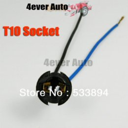 Wholesale 20PCS T10 Wire Wiring Harness Sockets Plug N Play Inserted Bulb Holder LED Base for Auto Motorcycle car