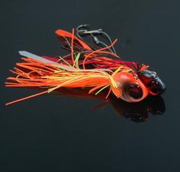 Ocean Fishing Jigs 40g 60g Artificial Lures Jigbait Windless Rubber Jig Buzzbait Squid Fish Head VMC Hook