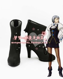 Wholesale-Ace Attorney Franziska von Karma Cosplay Chaussures Bottes chaussures bottes # MM1625 anime animation Halloween Noël à partir de fabricateur